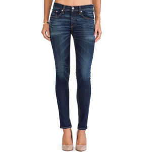 Rag & Bone Zipper Ankle Capri Jeans in Doheny Wash